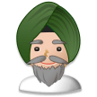 Man Wearing Turban on Samsung Experience 8.5