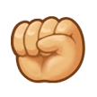 Raised Fist on Samsung Experience 8.5