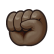 Raised Fist: Dark Skin Tone on Samsung Experience 8.5