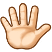 Hand with Fingers Splayed: Light Skin Tone on Samsung Experience 8.5