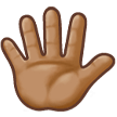 Hand With Fingers Splayed: Medium Skin Tone on Samsung Experience 8.5