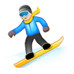 Snowboarder: Light Skin Tone on Samsung Experience 8.5
