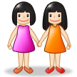 Women Holding Hands: Light Skin Tone on Samsung Experience 8.5
