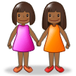 Women Holding Hands: Medium-Dark Skin Tone on Samsung Experience 8.5