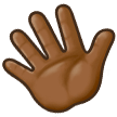 Waving Hand: Medium-Dark Skin Tone on Samsung Experience 8.5