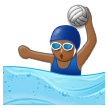 Woman Playing Water Polo: Medium-Dark Skin Tone on Samsung Experience 8.5