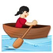 Woman Rowing Boat: Light Skin Tone on Samsung Experience 8.5