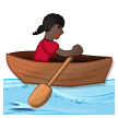 Woman Rowing Boat: Dark Skin Tone on Samsung Experience 8.5