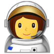 Woman Astronaut on Samsung Experience 9.0
