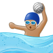 Man Playing Water Polo: Medium Skin Tone on Samsung Experience 9.0