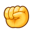 Raised Fist on Samsung Experience 9.0