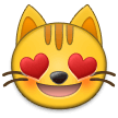 Smiling Cat Face With Heart-Eyes on Samsung Experience 9.0