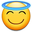Smiling Face with Halo on Samsung Experience 9.0