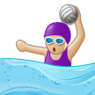 Woman Playing Water Polo: Medium-Light Skin Tone on Samsung Experience 9.0