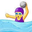 Woman Playing Water Polo on Samsung Experience 9.0
