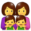 Family: Woman, Woman, Boy, Boy on Samsung Experience 9.1