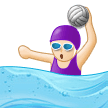 Woman Playing Water Polo: Light Skin Tone on Samsung Experience 9.1