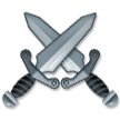 Crossed Swords on Samsung Experience 9.5