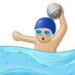 Man Playing Water Polo: Medium-Light Skin Tone on Samsung Experience 9.5