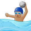 Man Playing Water Polo: Medium Skin Tone on Samsung Experience 9.5