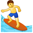 Man Surfing on Samsung Experience 9.5