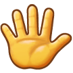 Hand With Fingers Splayed on Samsung Experience 9.5