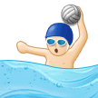 Person Playing Water Polo: Light Skin Tone on Samsung Experience 9.5