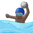 Person Playing Water Polo: Dark Skin Tone on Samsung Experience 9.5