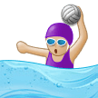 Woman Playing Water Polo: Medium-Light Skin Tone on Samsung Experience 9.5