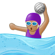 Woman Playing Water Polo: Medium Skin Tone on Samsung Experience 9.5