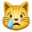 Crying Cat Face on Samsung One UI 1.0
