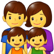 Family: Man, Woman, Girl, Boy on Samsung One UI 1.0