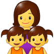 Family: Woman, Girl, Girl on Samsung One UI 1.0