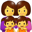 Family: Woman, Woman, Girl, Girl on Samsung One UI 1.0