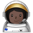 Woman Astronaut: Dark Skin Tone on Samsung One UI 1.0