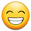 Beaming Face with Smiling Eyes on Samsung One UI 1.0