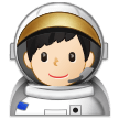 Man Astronaut: Light Skin Tone on Samsung One UI 1.0