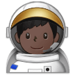 Man Astronaut: Dark Skin Tone on Samsung One UI 1.0