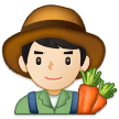 Man Farmer: Light Skin Tone on Samsung One UI 1.0