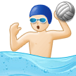 Person Playing Water Polo: Light Skin Tone on Samsung One UI 1.0