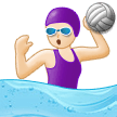 Woman Playing Water Polo: Light Skin Tone on Samsung One UI 1.0