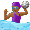 Woman Playing Water Polo: Medium-Dark Skin Tone on Samsung One UI 1.0