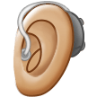 Ear With Hearing Aid: Medium-Light Skin Tone on Samsung One UI 1.5