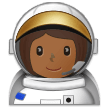 Woman Astronaut: Medium-Dark Skin Tone on Samsung One UI 1.5