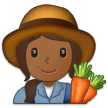 Woman Farmer: Medium-Dark Skin Tone on Samsung One UI 1.5
