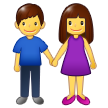 Woman and Man Holding Hands on Samsung One UI 1.5
