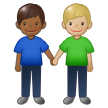 Men Holding Hands: Medium-Dark Skin Tone, Medium-Light Skin Tone on Samsung One UI 1.5