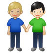 Men Holding Hands: Medium-Light Skin Tone, Light Skin Tone on Samsung One UI 1.5