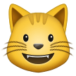 Grinning Cat Face on Samsung One UI 1.5