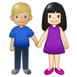 Woman and Man Holding Hands: Light Skin Tone, Medium-Light Skin Tone on Samsung One UI 1.5